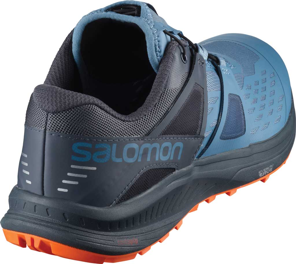 Men's Salomon Ultra Pro Running Sneaker, Copen Blue/India Ink/Red Orange, large, image 2