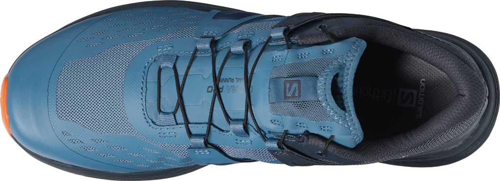 Men's Salomon Ultra Pro Running Sneaker, Copen Blue/India Ink/Red Orange, large, image 3