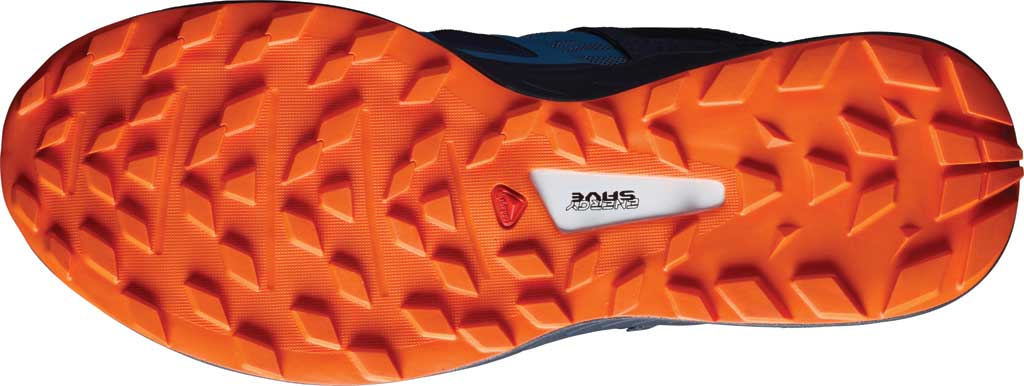 Men's Salomon Ultra Pro Running Sneaker, Copen Blue/India Ink/Red Orange, large, image 4