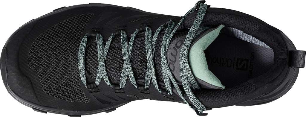 Women's Salomon Outline Mid GORE-TEX Hiking Boot, Black/Magnet/Green Milieu, large, image 3
