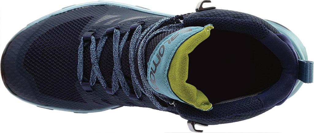 Women's Salomon Outline Mid GORE-TEX Hiking Boot, Black/Magnet/Green Milieu, large, image 5