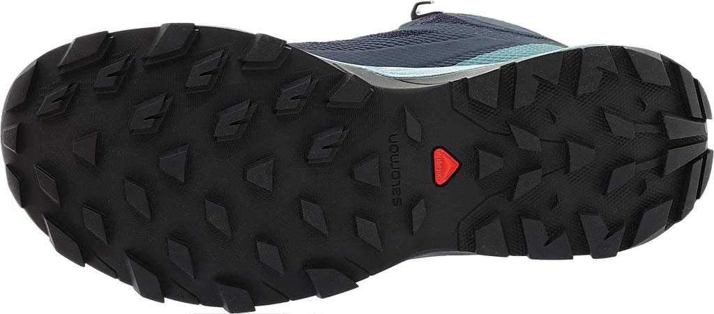 Women's Salomon Outline Mid GORE-TEX Hiking Boot, Black/Magnet/Green Milieu, large, image 6