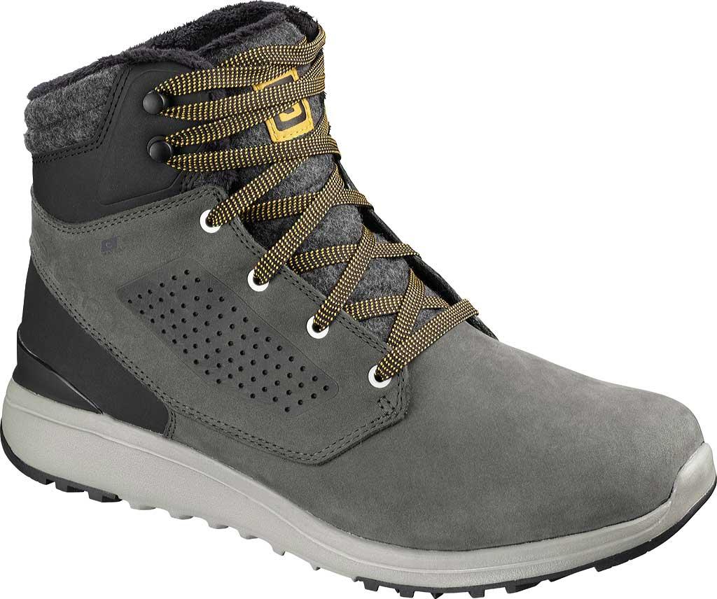 Men's Salomon Utility Winter ClimaSalomon Waterproof Sneaker, Beluga/Black/Green Sulphur, large, image 1