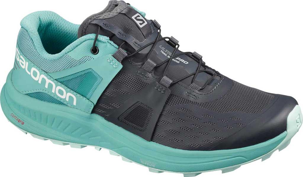 Women's Salomon Ultra Pro Running Sneaker, Ebony/Meadowbrook/Icy Morn Air Mesh, large, image 1