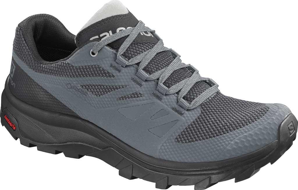 Women's Salomon OUTline GTX Hiking Shoe, Stormy Weather/Black/Lunar Rock Mesh/Synthetic, large, image 1
