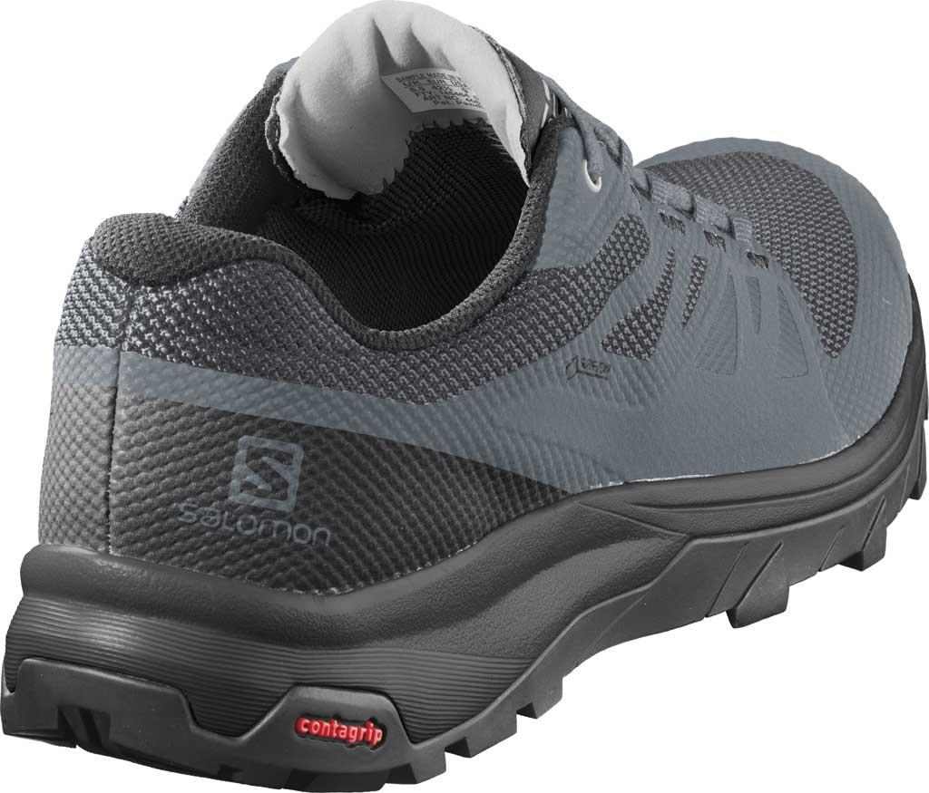 Women's Salomon OUTline GTX Hiking Shoe, Stormy Weather/Black/Lunar Rock Mesh/Synthetic, large, image 2