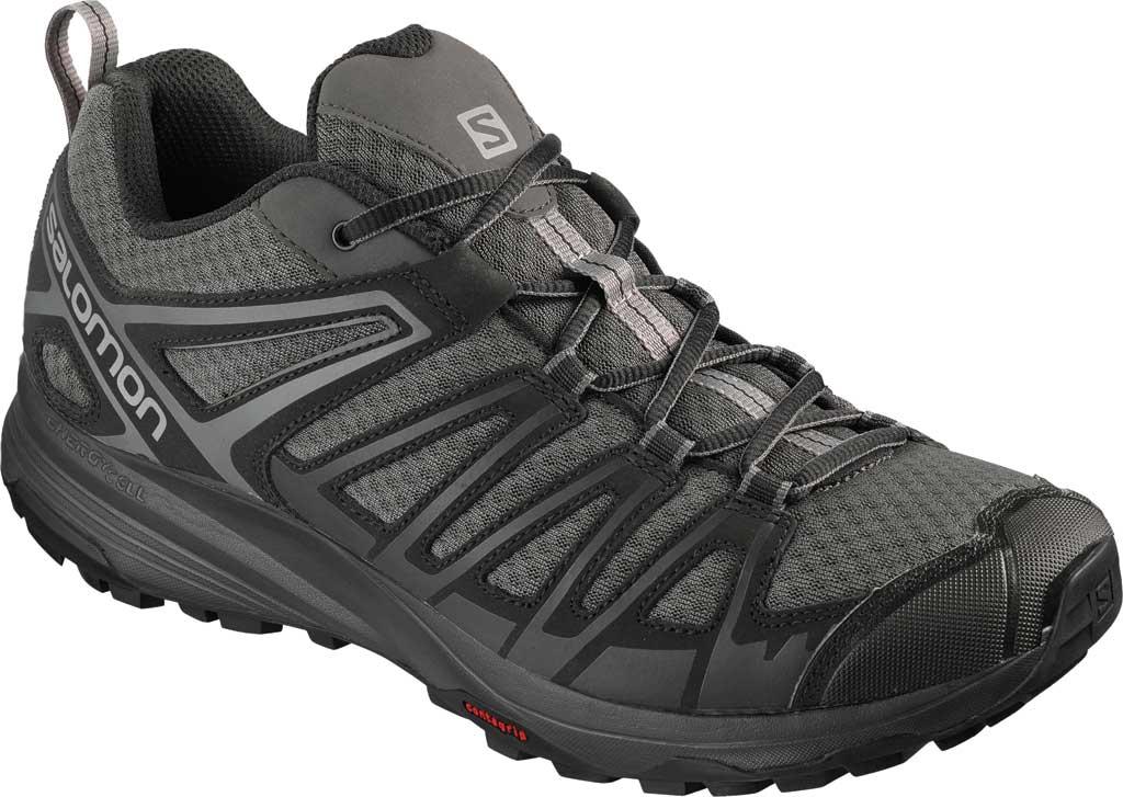 Men's Salomon X Crest Hiking Boot, Magnet/Black/Monument, large, image 1