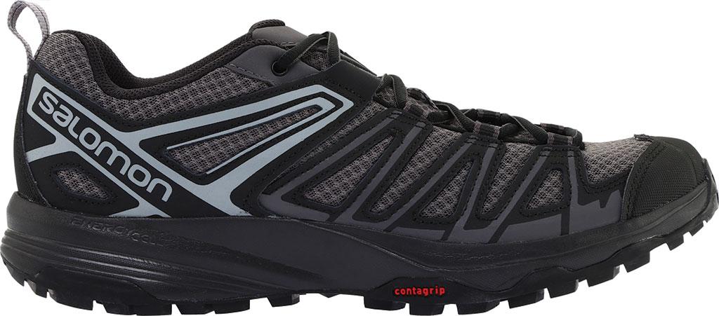 Men's Salomon X Crest Hiking Boot, Magnet/Black/Monument, large, image 2