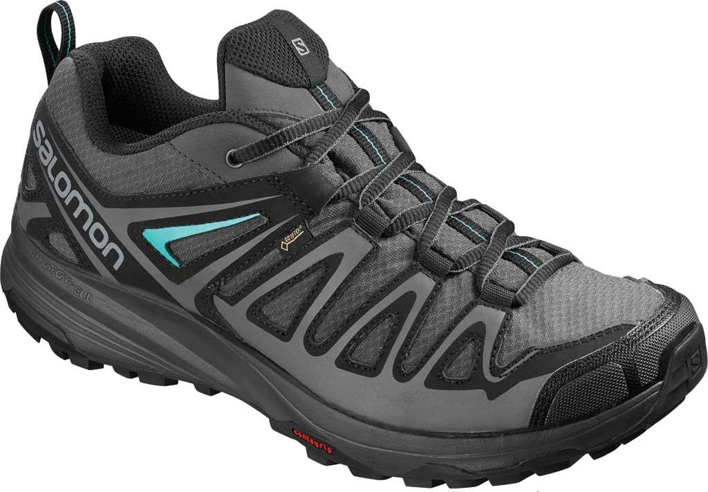 Women's Salomon X Crest GORE-TEX Trail Running Shoe, Magnet/Black/Atlantis, large, image 1