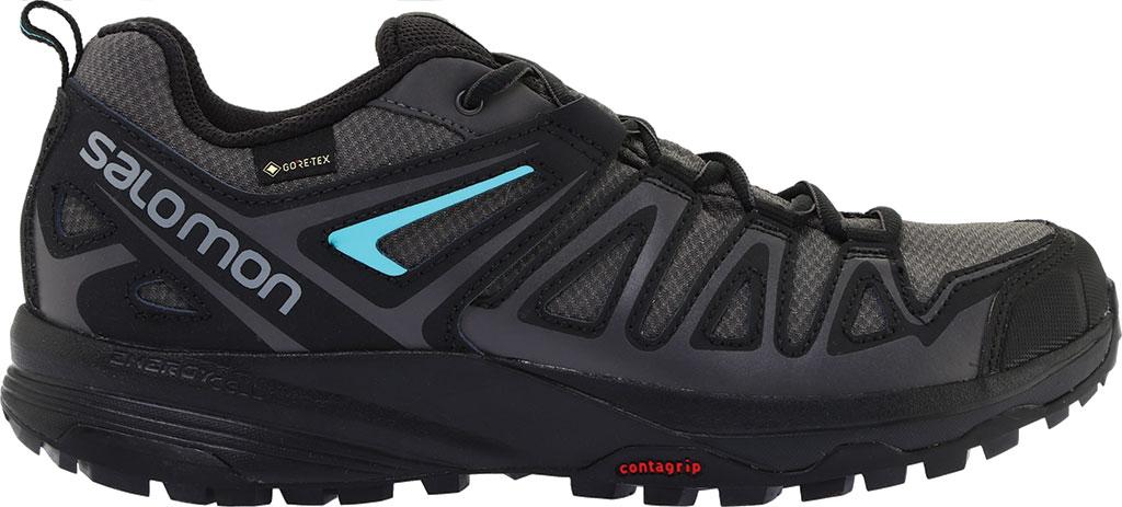 Women's Salomon X Crest GORE-TEX Trail Running Shoe, Magnet/Black/Atlantis, large, image 2