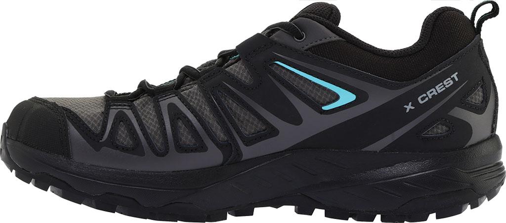 Women's Salomon X Crest GORE-TEX Trail Running Shoe, Magnet/Black/Atlantis, large, image 3