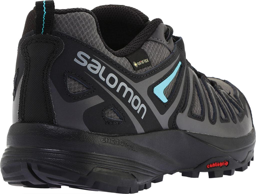 Women's Salomon X Crest GORE-TEX Trail Running Shoe, Magnet/Black/Atlantis, large, image 4