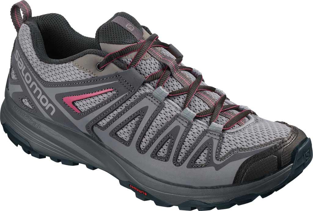 Women's Salomon X Crest Hiking Boot, Alloy/Ebony/Malaga, large, image 1