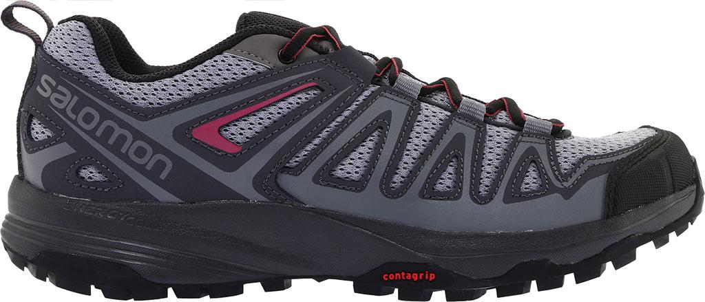 Women's Salomon X Crest Hiking Boot, Alloy/Ebony/Malaga, large, image 2