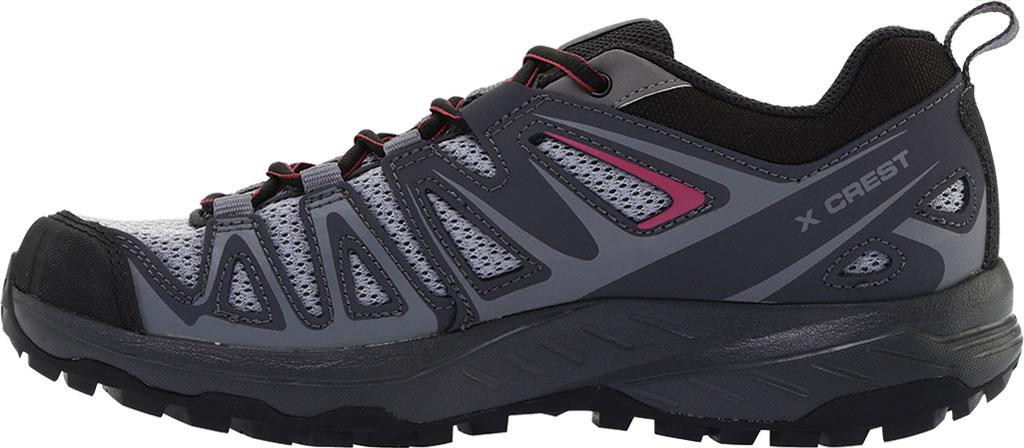Women's Salomon X Crest Hiking Boot, Alloy/Ebony/Malaga, large, image 3
