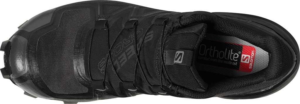 Women's Salomon SpeedCross 5 GORE-TEX Trail Shoe, Black/Black/Phantom Polyester/Mesh, large, image 2