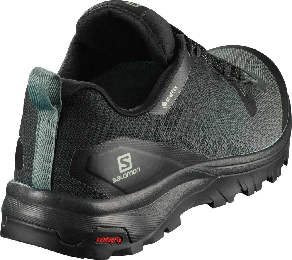 Women's Salomon Vaya GORE-TEX Hiking Shoe, Black/Balsam Green/Black, large, image 2