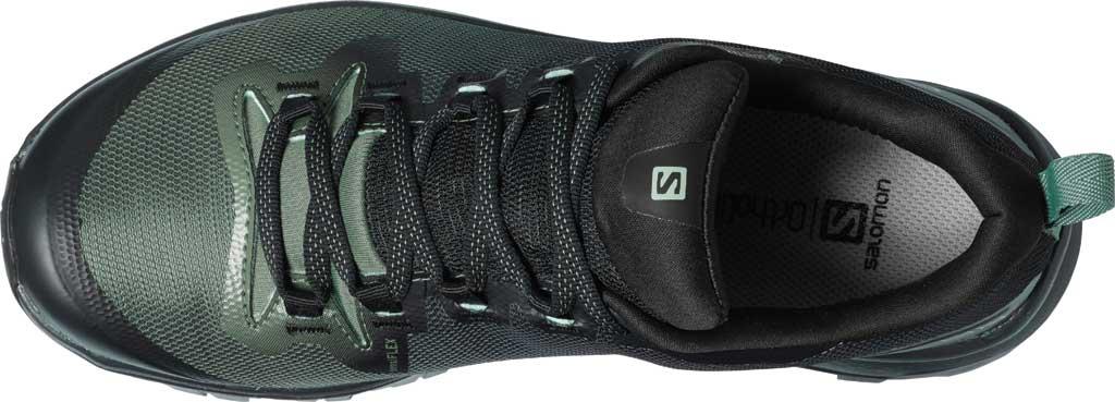 Women's Salomon Vaya GORE-TEX Hiking Shoe, Black/Balsam Green/Black, large, image 3