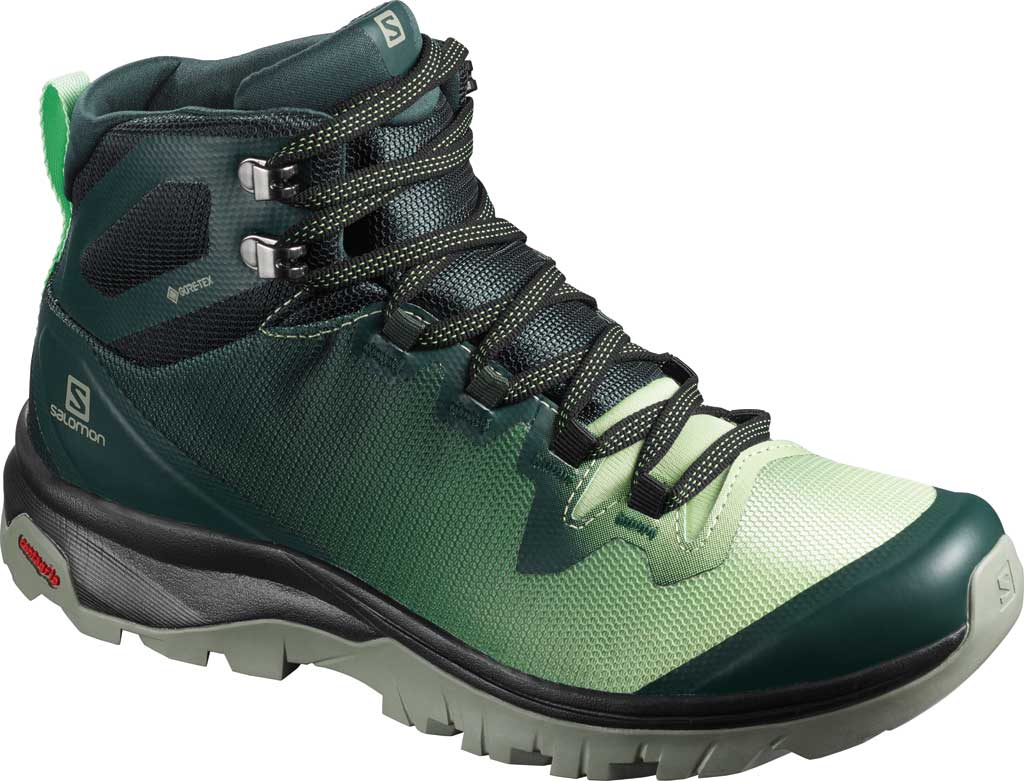 Women's Salomon Vaya Mid GORE-TEX Hiking Boot, Green Gables/Spruce Stone/Shadow, large, image 1