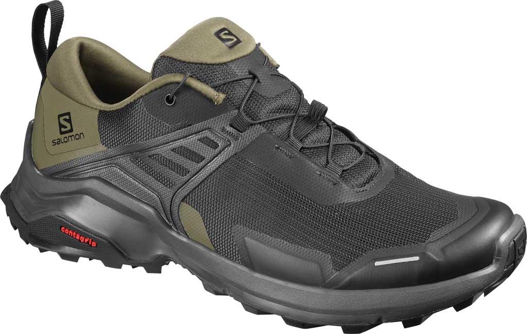 Men's Salomon X Raise Hiking Shoe, Black/Grape Leaf/Phantom, large, image 1