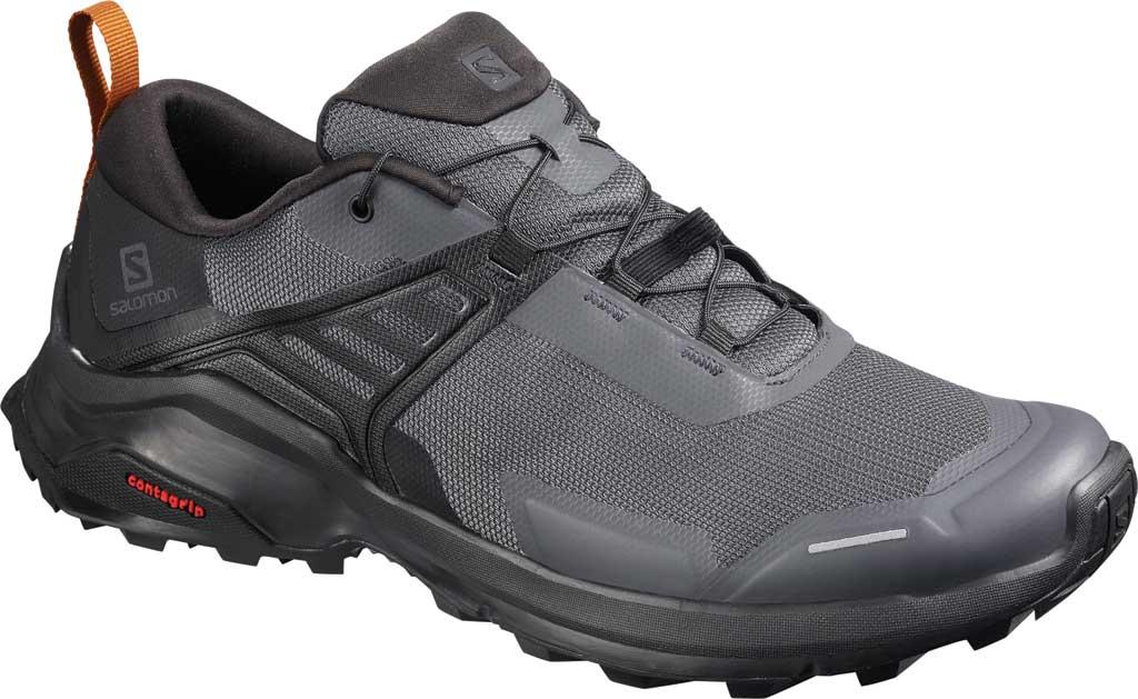 Men's Salomon X Raise Hiking Shoe, Ebony/Black/Caramel Cafe, large, image 1