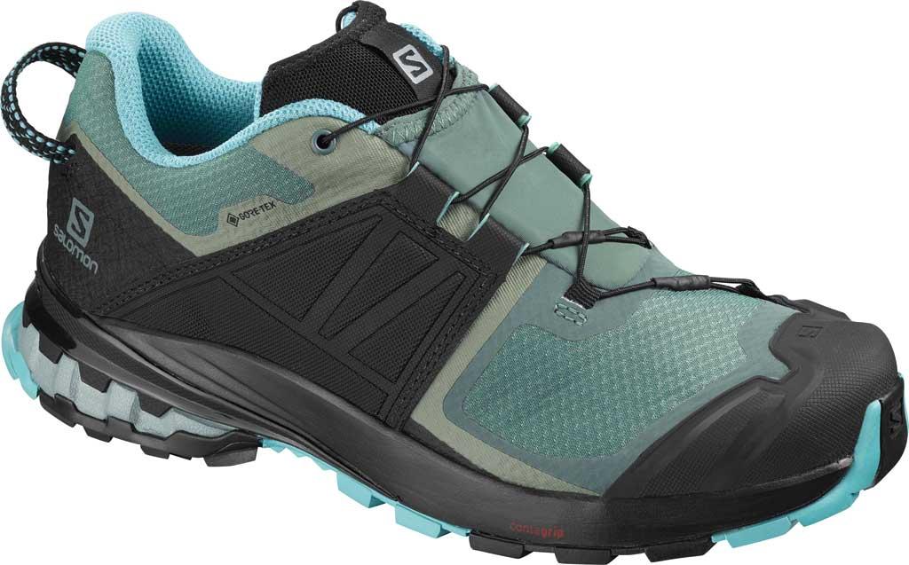 Women's Salomon XA Wild GORE-TEX Trail Shoe, Balsam Green/Black/Meadowbrook, large, image 1