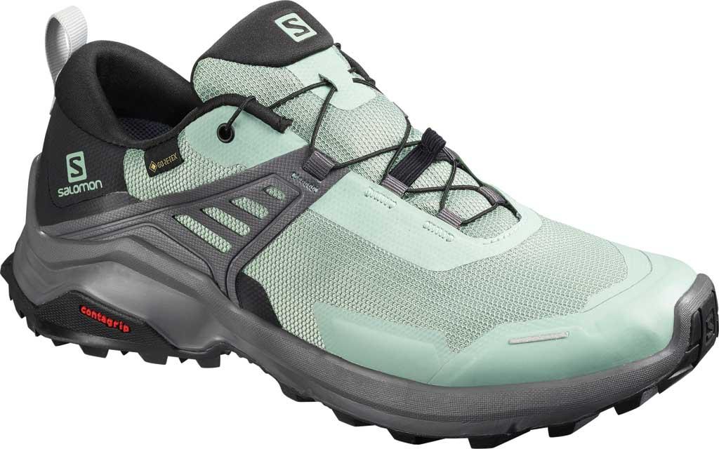 Women's Salomon X Raise GORE-TEX Hiking Shoe, Green Milieu/Black/Magnet, large, image 1