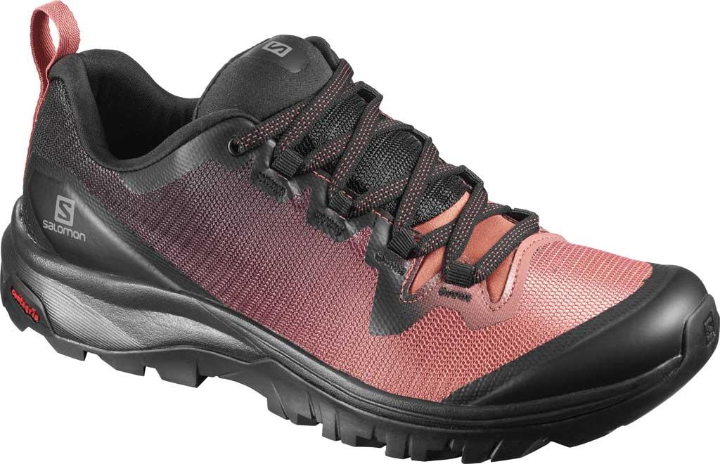 Women's Salomon Vaya Hiking Shoe, Black/Cedar Wood/Black, large, image 1