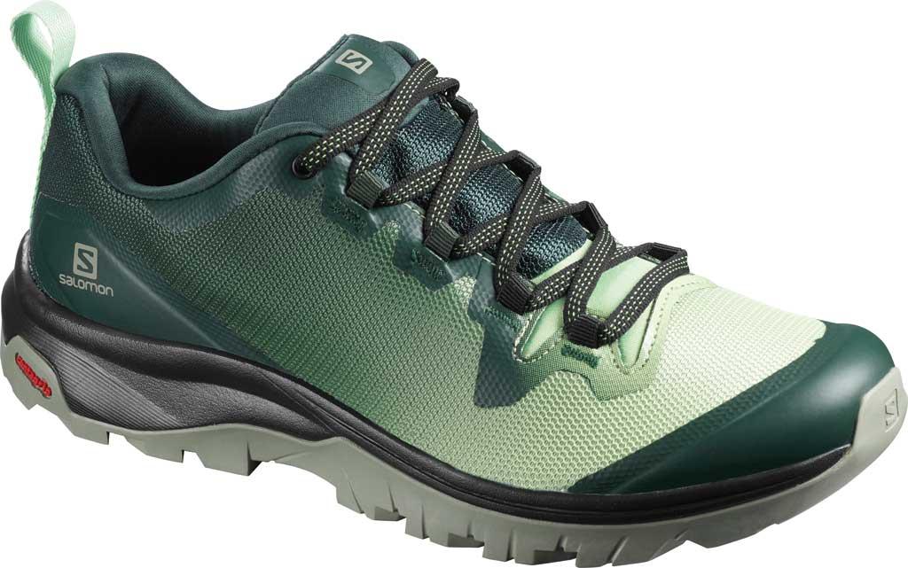 Women's Salomon Vaya Hiking Shoe, Green Gables/Spruce Stone/Shadow, large, image 1