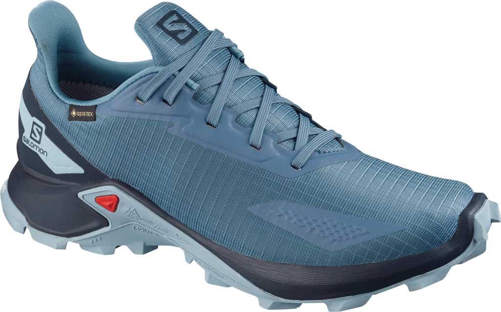 Women's Salomon Alphacross Blast GORE-TEX Trail Running Sneaker, Copen Blue/Navy Blazer/Ashley Blue, large, image 1