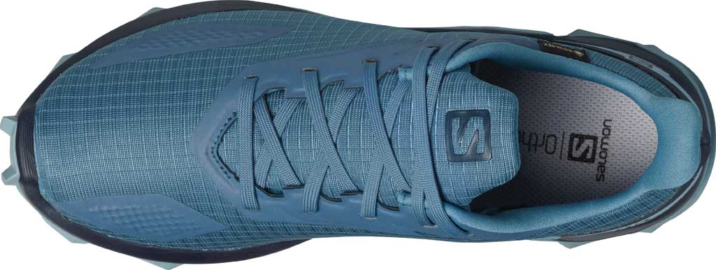 Women's Salomon Alphacross Blast GORE-TEX Trail Running Sneaker, Copen Blue/Navy Blazer/Ashley Blue, large, image 3