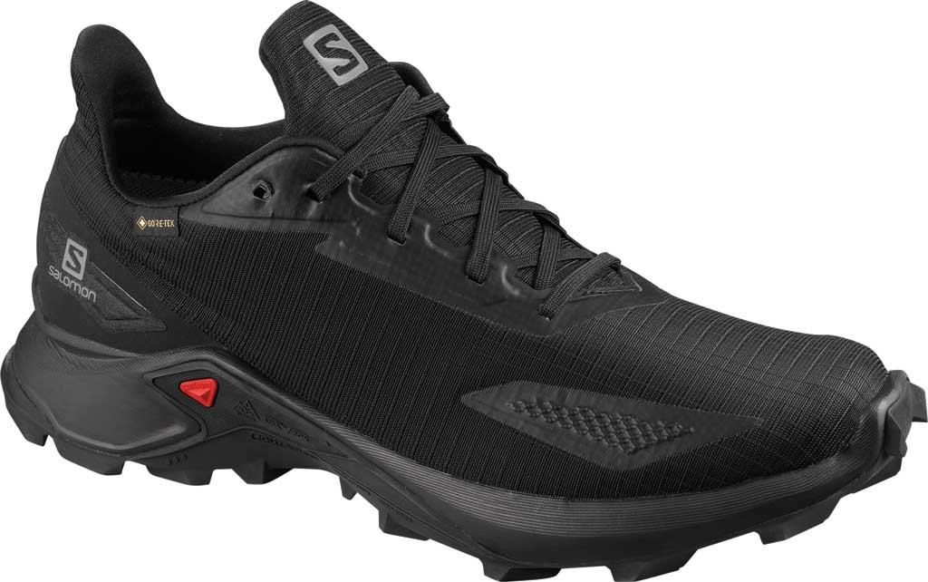 Men's Salomon Alphacross Blast GORE-TEX Trail Running Sneaker, Black/Black/Black, large, image 1