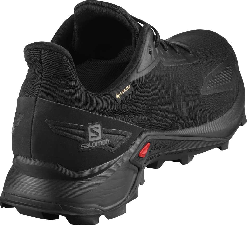 Men's Salomon Alphacross Blast GORE-TEX Trail Running Sneaker, Black/Black/Black, large, image 2