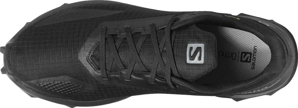 Men's Salomon Alphacross Blast GORE-TEX Trail Running Sneaker, Black/Black/Black, large, image 3