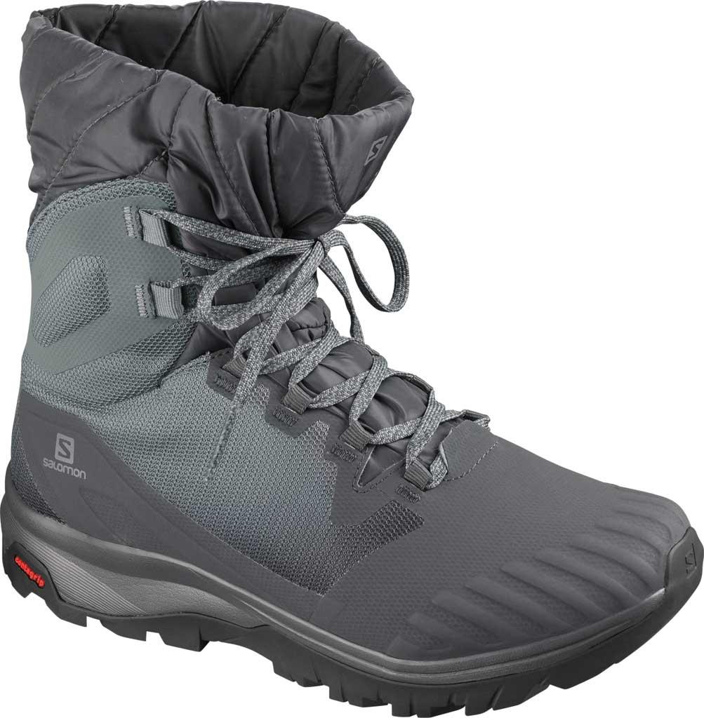 Women's Salomon Vaya Powder TS CS Waterproof Boot, Ebony/Stormy Weather/Black, large, image 1