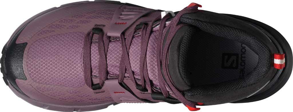 Women's Salomon Odyssey Mid GORE-TEX Hiking Sneaker, Black/Flint/High Risk Red, large, image 3