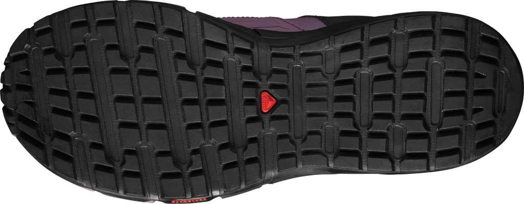 Women's Salomon Odyssey Mid GORE-TEX Hiking Sneaker, Black/Flint/High Risk Red, large, image 4