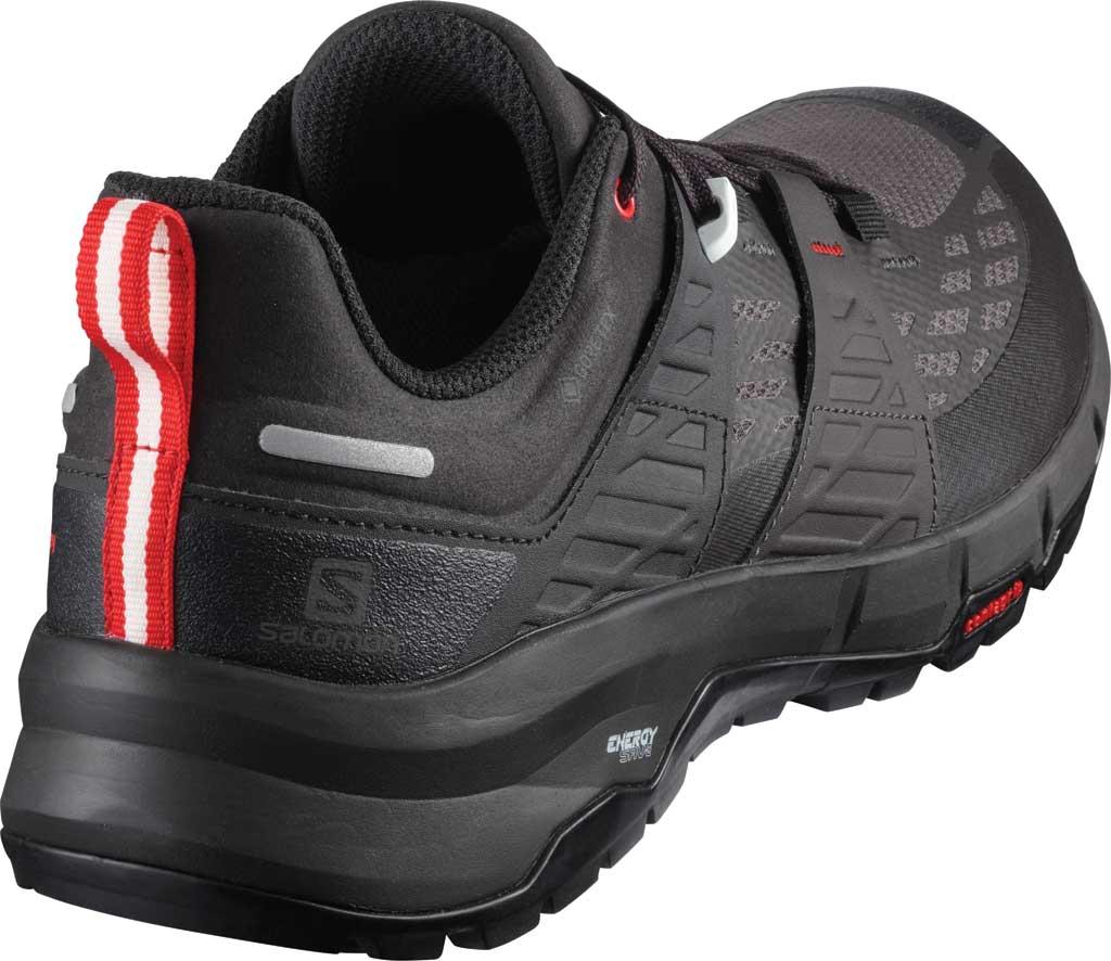 Men's Salomon Odyssey GORE-TEX Hiking Sneaker, Black/Shale/High Risk Red, large, image 2