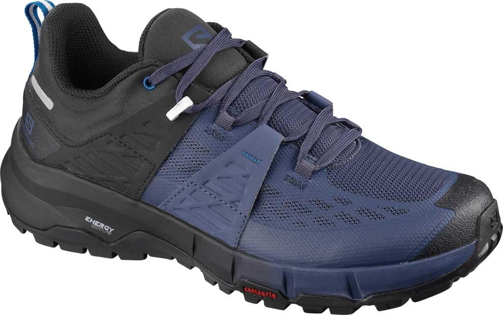 Women's Salomon Odyssey Hiking Sneaker, Black/Crown Blue/Imperial Blue, large, image 1
