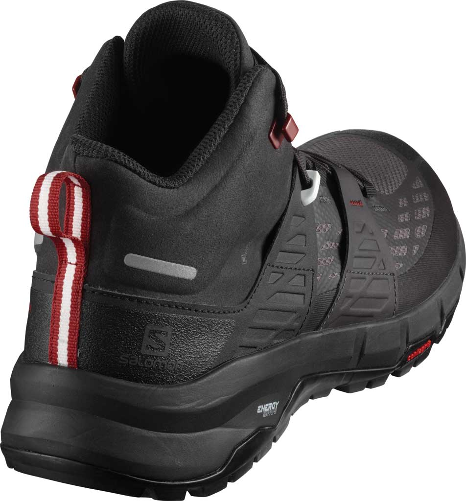 Men's Salomon Odyssey Mid GORE-TEX Hiking Sneaker, Black/Shale/High Risk Red, large, image 2