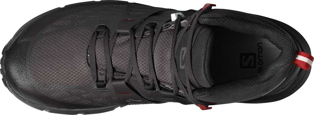Men's Salomon Odyssey Mid GORE-TEX Hiking Sneaker, Black/Shale/High Risk Red, large, image 3