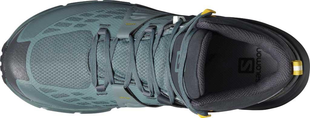 Men's Salomon Odyssey Mid GORE-TEX Hiking Sneaker, Ebony/Stormy Weather/Sulphur, large, image 3