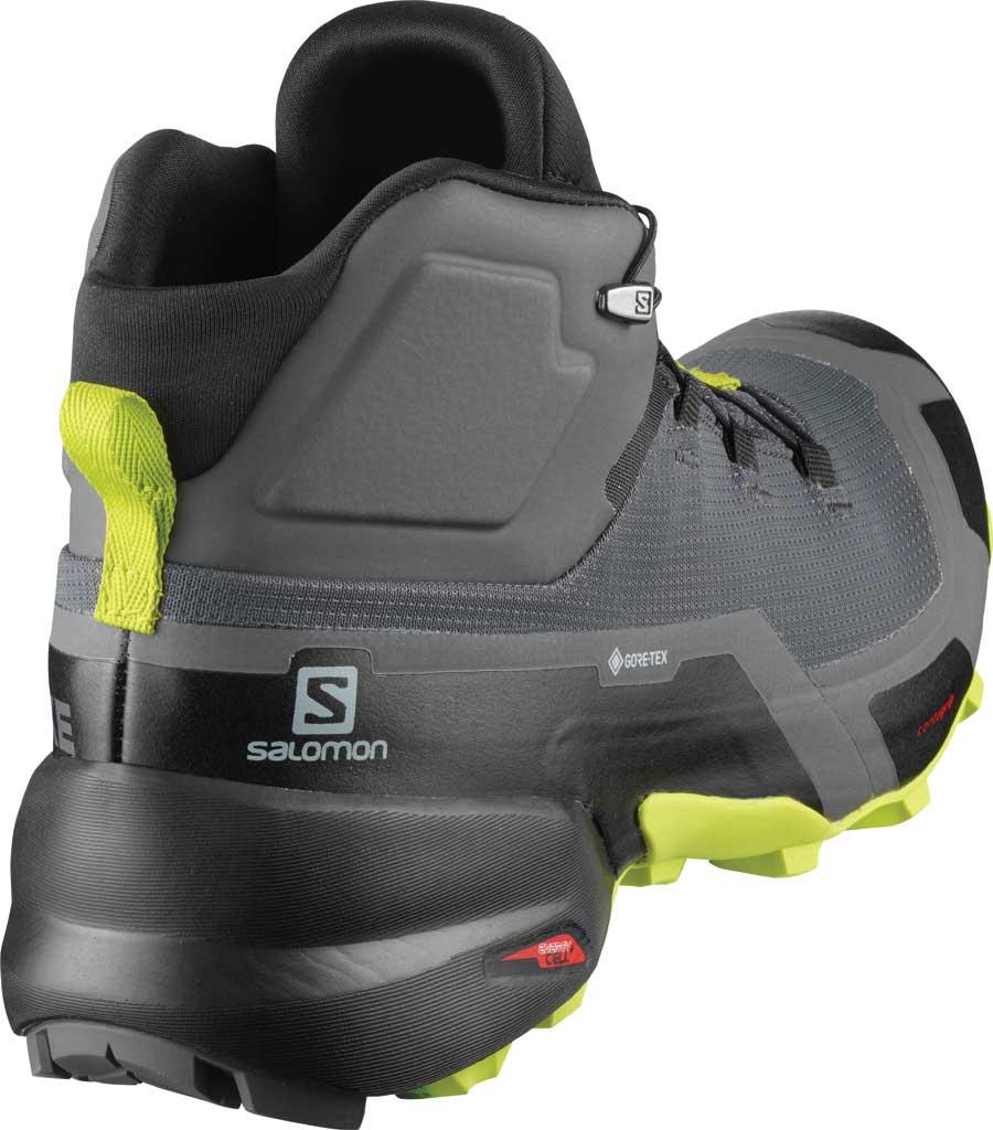 Men's Salomon Cross Hike Mid GORE-TEX Sneaker, Magnet/Black/Lime Punch, large, image 2