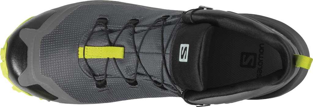 Men's Salomon Cross Hike Mid GORE-TEX Sneaker, Magnet/Black/Lime Punch, large, image 3