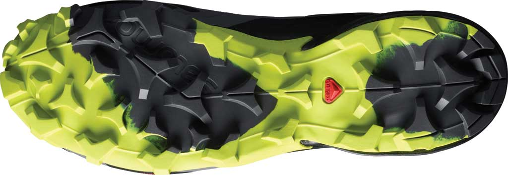 Men's Salomon Cross Hike Mid GORE-TEX Sneaker, Magnet/Black/Lime Punch, large, image 4