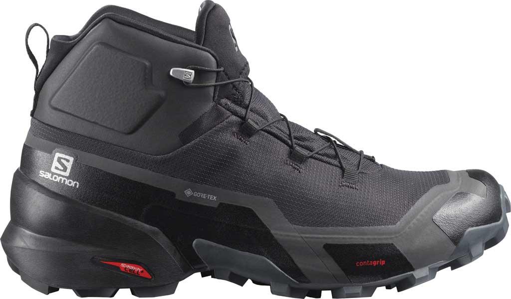 Men's Salomon Cross Hike Mid GORE-TEX Sneaker, Phantom/Black/Ebony, large, image 1