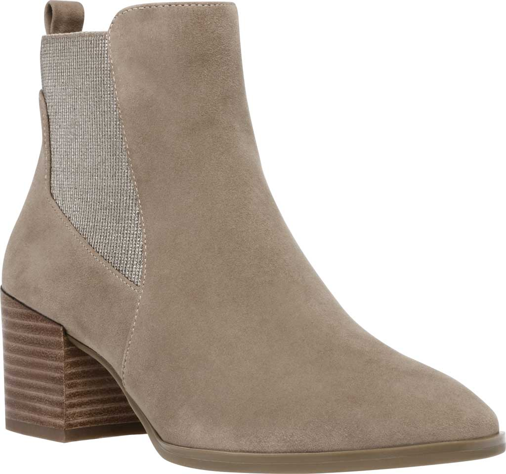 Women's Anne Klein Parson Chelsea Boot, Metallic Taupe Suede, large, image 1