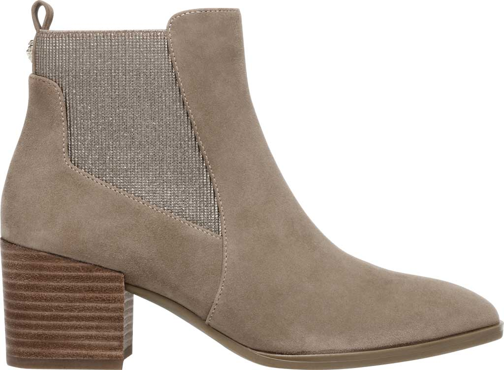 Women's Anne Klein Parson Chelsea Boot, Metallic Taupe Suede, large, image 2