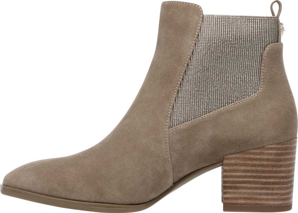 Women's Anne Klein Parson Chelsea Boot, Metallic Taupe Suede, large, image 3