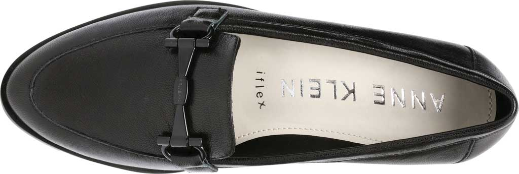 Women's Anne Klein Lalita Wedge Loafer, Black Leather, large, image 4